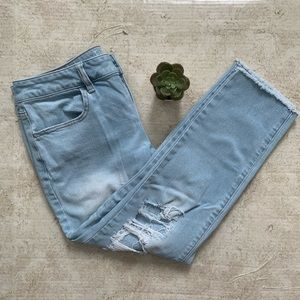 American Eagle | Super Stretch Distressed Ankle Cropped Jeans
